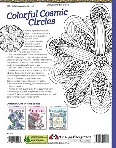 Creative Coloring Mandalas: Art Activity Pages to Relax and Enjoy! (De