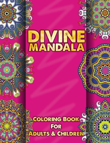Divine Mandala Coloring Book For Adults Amp Children Sacred Mandala Des
