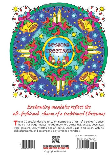 Christmas Mandalas Coloring Book (Dover Design Coloring Books)