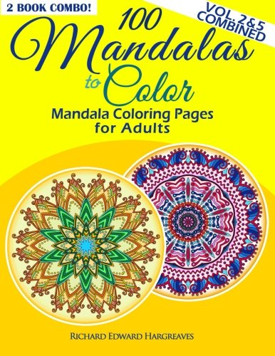 100 Mandalas To Color Mandala Coloring Pages For Adults Vol