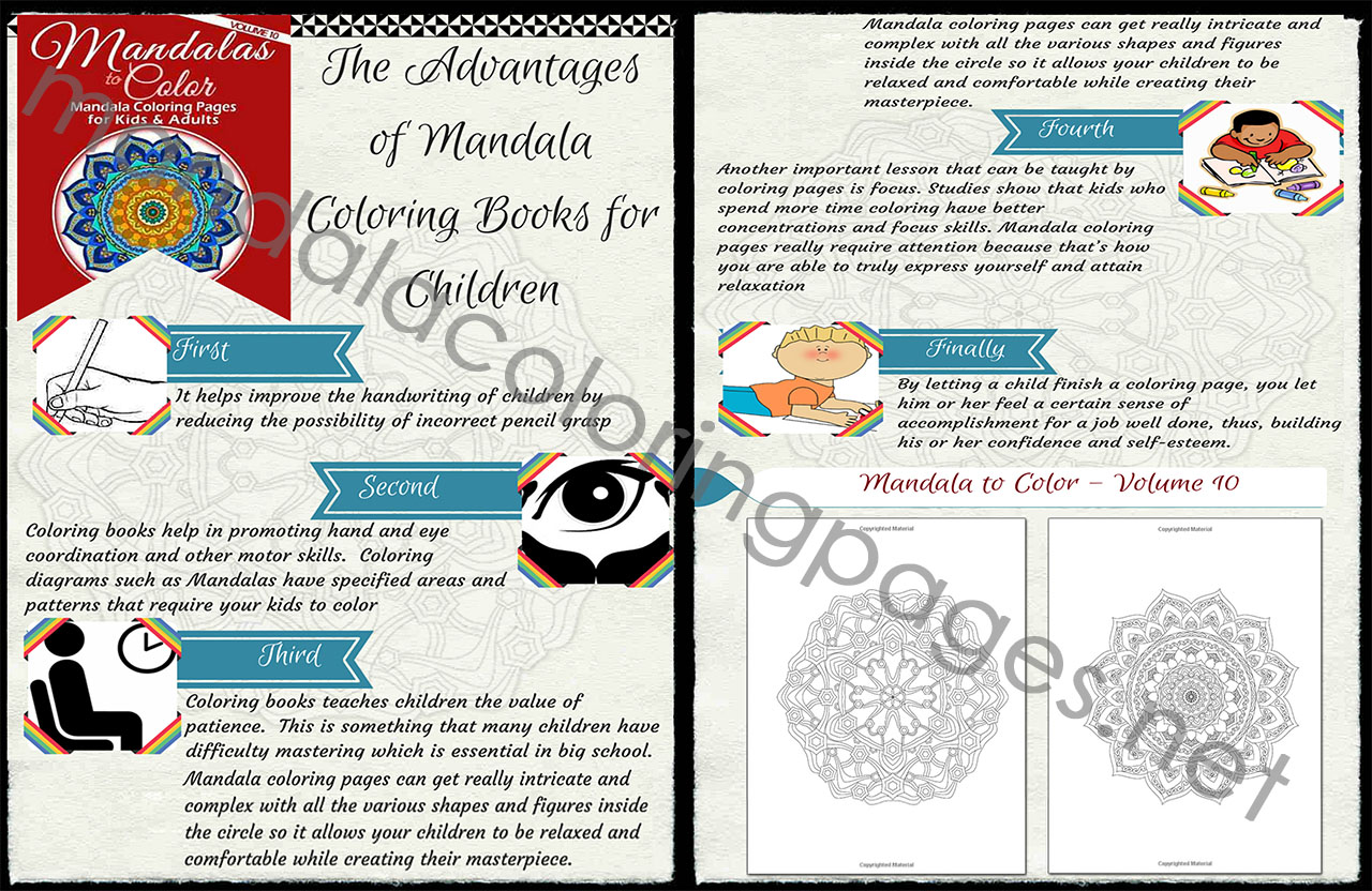 The advantages of mandala coloring books for children