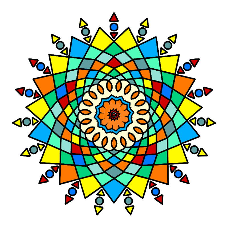 Stress Less Coloring Mandalas Description