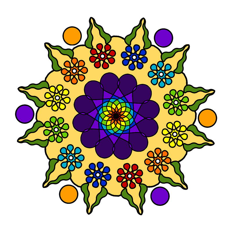 description - Mandalas Coloring Book