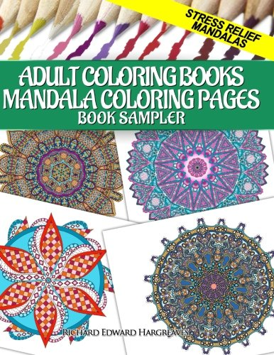 Adult Coloring Books Mandala Coloring Pages Book Sampler: Stress ...
