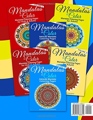 Great Big Book 2 Of Mandalas To Color Over 300 Mandala Coloring Pages