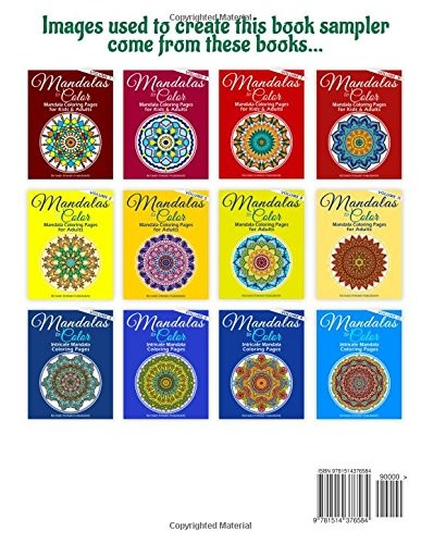 Adult Coloring Books Mandala Pages Book Sampler Stress Relief Mandalas Volume 3