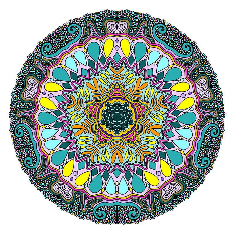 Mandala coloring pages sampler volume3 3 mandala Mandala coloring book for adults volume 3