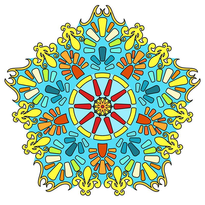 Mandala coloring pages sampler volume3 6 mandala Mandala coloring book for adults volume 3